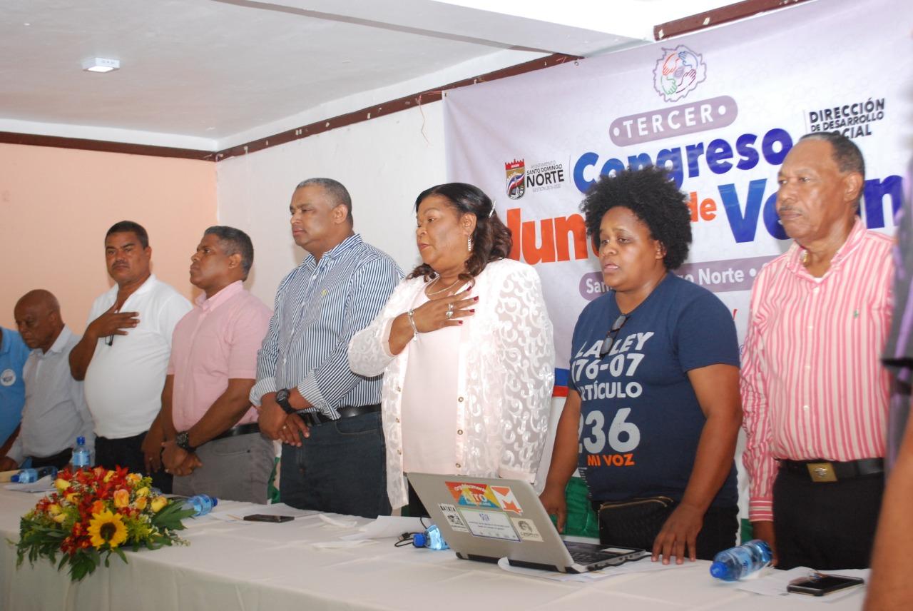 Alcaldía de SDN realiza  tercer Congreso de Juntas de Vecinos