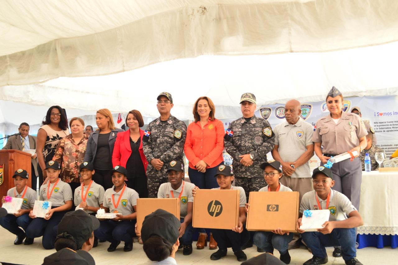 Alcaldía de Santo Domingo Norte y PN realizan graduación 231nuevos Policías Juveniles Comunitarios